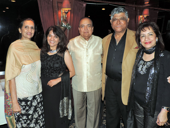 Prabha Garg (left) with Event Chair Manisha Gandhi, Ashok Garg, President Pradeep and Kiran Gupta.