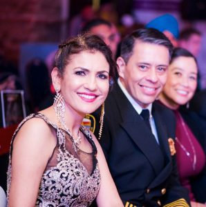 Jaz Creationz CEO & Founder, Jasmeeta Singh with the chief guest, Houston Fire Department Chief Samuel Pena& his wife.