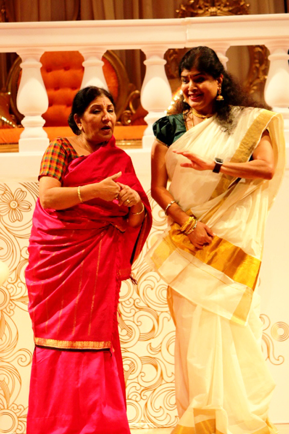 Rathna Kumar and Lalita Sundaresan played quarreling neighbors