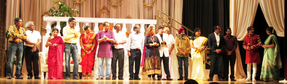 "The cast and crew of the play ""Mastani O Mastani"" which was staged at the Old Stafford Civic Center this past Sunday, November 5 in support of the Indian charity Udavum Karangal."