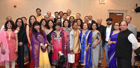 After the Kavi Sammelan, the Hindi poets and members of the IHA and ICC gathered together.
