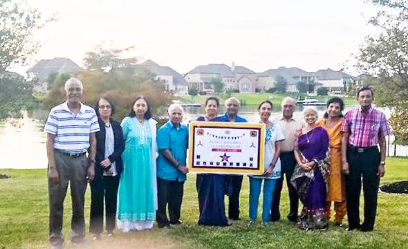 KMY Eleven back to the pavilion, November 7; from left, Narayana Ponnada,Lakshmi Narayana,Asha Jain, Mallik Putcha, Nutan Iyer, R. K. Iyer, Usha Tewari, Arun Tewari, Kumari Susarla, Raju Nandagiri, Showri Nandagiri.