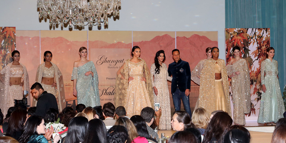 Fashion show by Ghungat showcasing the Shalimar Collection.