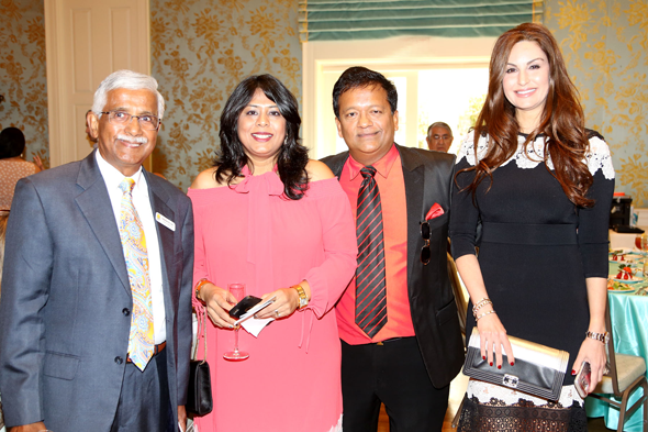 From left: Swatantra Jain, Treasurer and National Board member, Pratham USA; Leena Shah, Co-Chair, Houston Luncheon; Ash Shah, President, Pratham Houston; Brigitte Kalai.