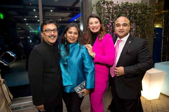 Chetan and Shefali Jhaveri (left) and Tanaz and Chesley Choudhury