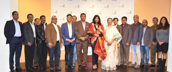 From left: Surendar Pullemla, Chandra Sirigiri, Raj Vakulabharanam, Vijay Devireddy, Brij Agarwal, Jugal Malani, Sri Parthasarathi, Bangar Reddy, Aruna Miller, Lakshmi Medi, Rishi Bhutada, Raj Pasala, Karun Srirama, Sridhar Kanchanakuntla, Vijay Pallod, and Asha Reddy.