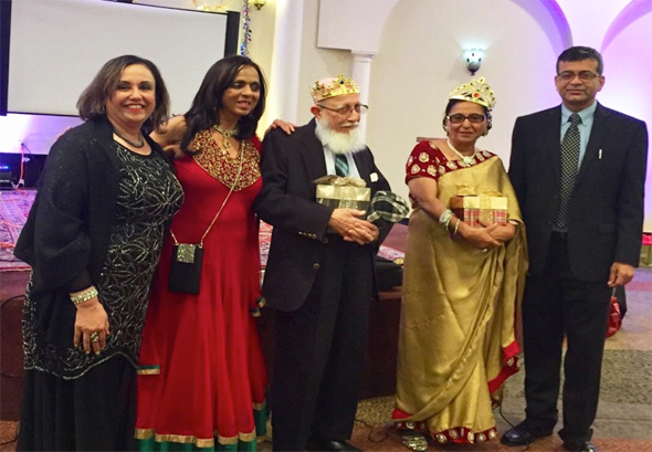 From left: Ashma Moosa, Paru McGuire, Taiyeb Shipchandler, Mariam Ibrahim, Saeed Pathan
