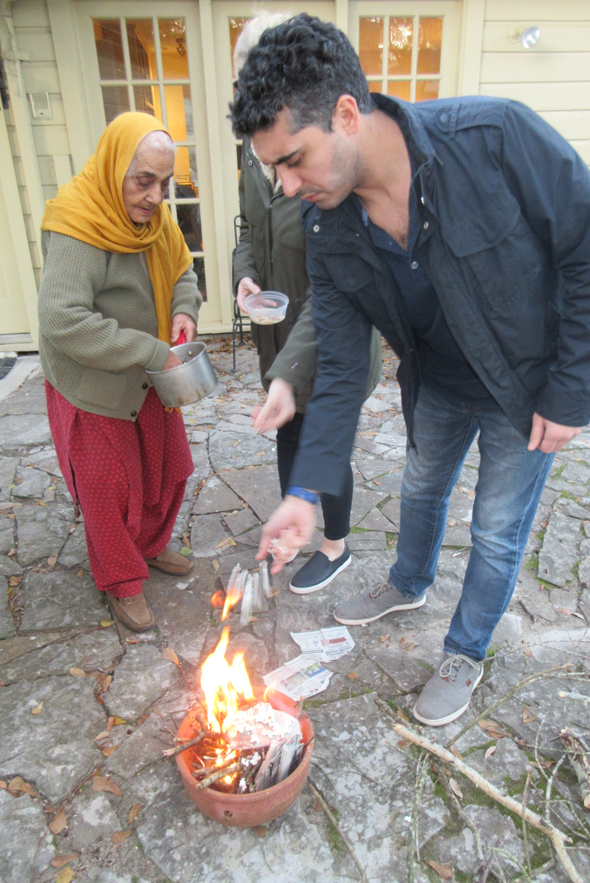 The trio celebrated lohri on Saturday, January 13 with mama sharing some tales of her youth in Lyallpur, British India.