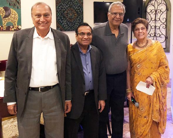 PCC's executive committee. From left: Balwant Khurana- Past President, Krishan Bansal- Vice President, Ravi Goel- Treasurer, Neelu Sharma- Secretary.