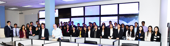YLDP Houston students with Dr. Arun Pasrija, President and CEO of CHR Solutions