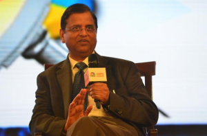 Subhash Chandra Garg, secretary, department of economic affairs, at a CNBC TV18-Mint event on Budget 2018. Photo: Ramesh Pathania