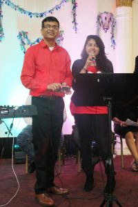Club 65 volunteer Saeed Pathan sang a special number for his wife (seated in the crowd).