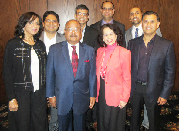 The Executive Team of IMAGH with President Munir Ibrahim (right)