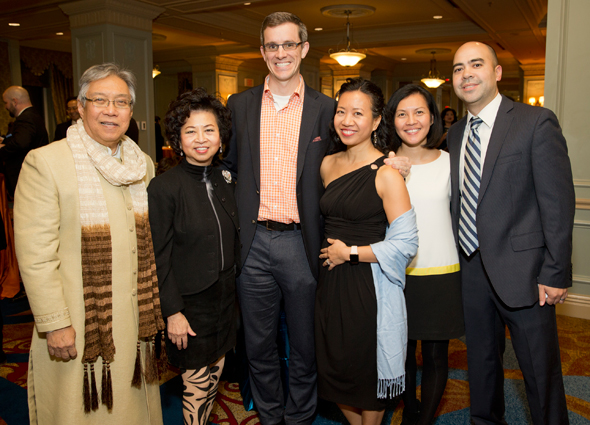 Honorees Sylvia & Gordon Quan and their children Patrick & Caroline Long and Kristen & Hunter Hammill.