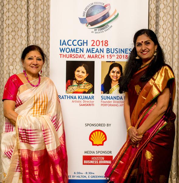 Rathna Kumar (left), Artistic Director Samskriti, and Sunanda Nair, Founder Director Sunanda Performing Arts Center.