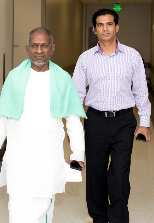Padma Vibhushan Ilayaraja with Rajender Singh of Star Promotion