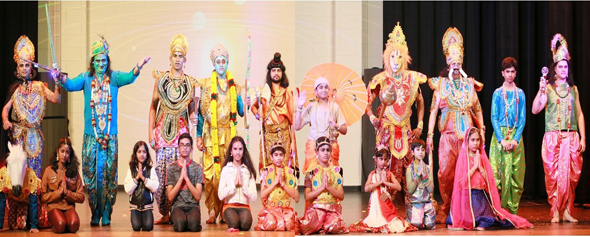 10 Vishnus | 10 Avatars, from left: Matsya, Kurma, Varaha, Nara-Simha, Parashu Ram, Bala Ram, Ram, Krishna, Kalki.