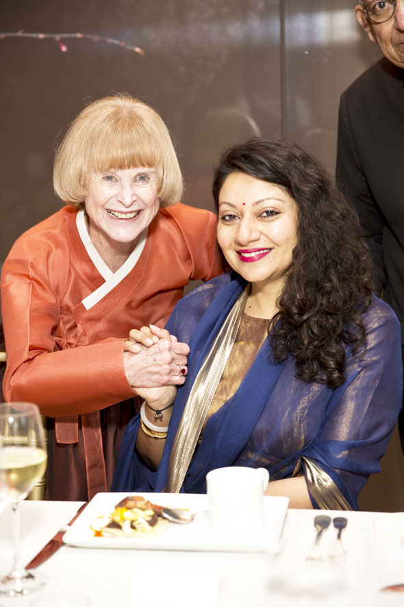 Nancy Allen (board director) and Princess Shivranjani Rajye of Marwar-Jodhpur