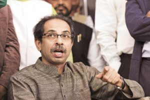 "Shiv Sena leader Uddhav Thackeray. Another senior Shiv Sena leader, Maharashtra industry minister Subhash Desai, addressing Sena cadres in Navi Mumbai on Saturday, said the BJP's ""tone and language"" had changed after setbacks in recent bypolls. Photo: HT"