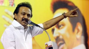 DMK working president M K Stalin also said the party cadres would show black flags to Prime Minister Narendra Modi during his scheduled visit to Chennai on April 11. (File Photo)