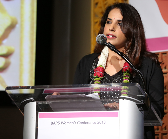 Monica Mehta set the tone for the conference.