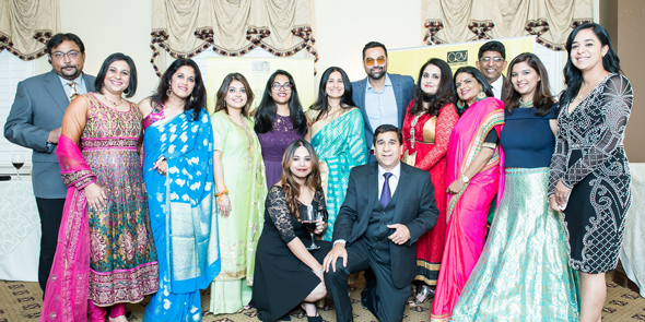 CRY Houston team with friends and Bollywood actor, Abhay Deol.