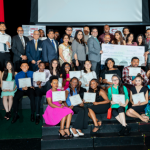 2018 Scholarship Recipients with Himesh Gandhi - Mayor Pro-Tem Sugar Land and IACF Board members at the annual Scholarship Awards reception held on Monday, May 7, at the Rodgers Memorial Auditorium in Sugar Land.
