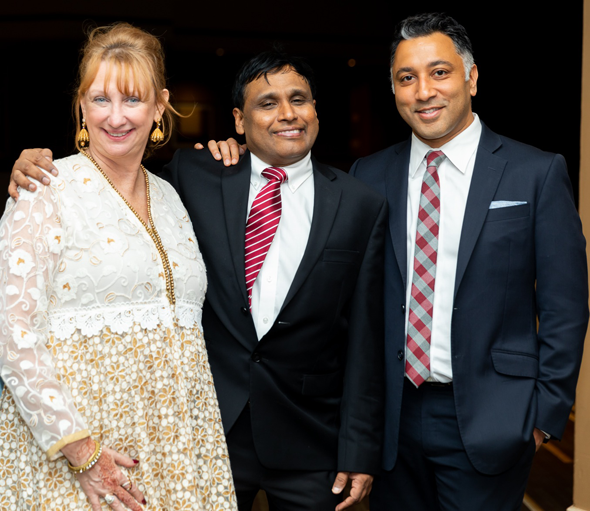 From left: Therese Cole-Hubbs, Dr. Prasun K. Jalal, and Anish Shah.