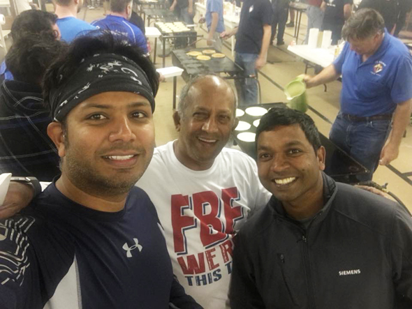 Ramesh Anand (center) with Asam Syed (left) and Deepak Agarwal of Team Siemens