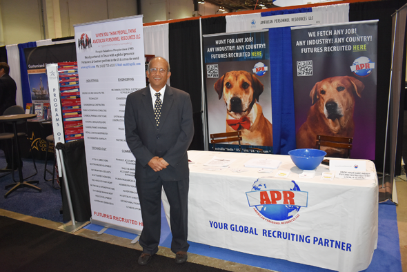 Ramesh Anand, President of American Personnel Resources was at the OTC again this year.