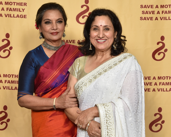 Veena Kaul, SAM President with the Guest of Honor and Keynote Speaker, Shabana Azmi.