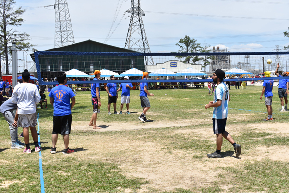Ten teams took part in the volleyball contest