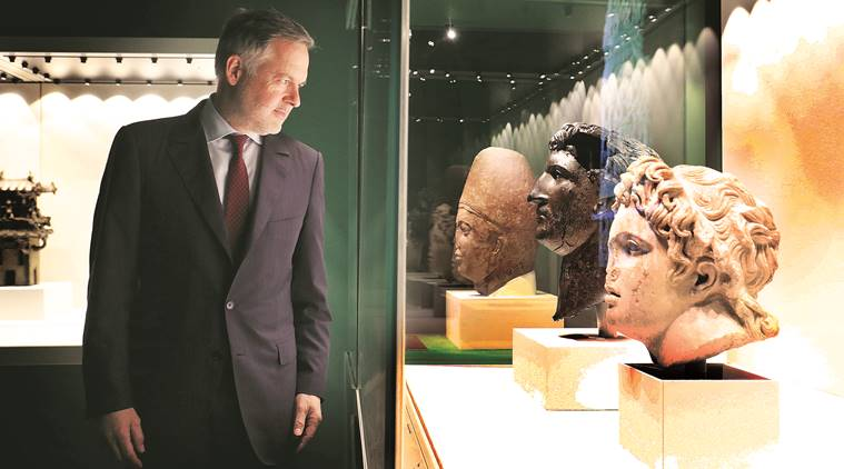 Hartwig Fischer at the National Museum in Delhi (Express Photo by Praveen Khanna)