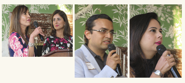 From left, Dr. Hiru Mathur, Preeti Bhagiya, Chair SOS BIO, Dr. Vijay Bhagiya and Davina Bhojwani gave testimonials of the impact of SOS