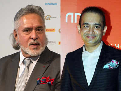 Vijay Mallya and Nirav Modi (R)