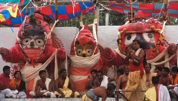 Snana Purnima at Snana Mandapa, Puri, Odisha