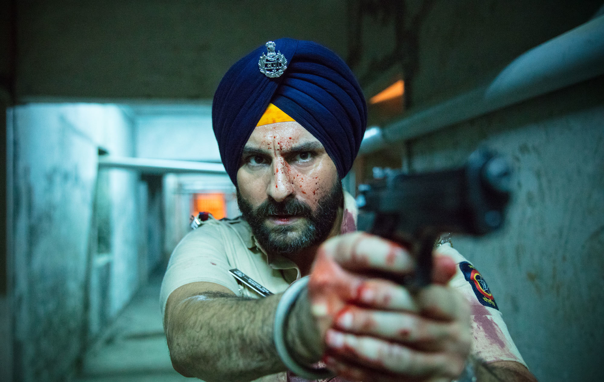 "Saif Ali Khan in ""Sacred Games,"" a Mumbai-set crime thriller that is Netflix's first Indian original series. CreditNetflix"