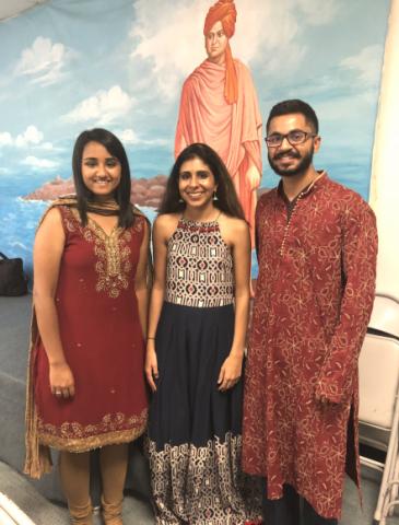 From left, Neha Srivastava , Komal Luthra , and Siddharth Prasad.