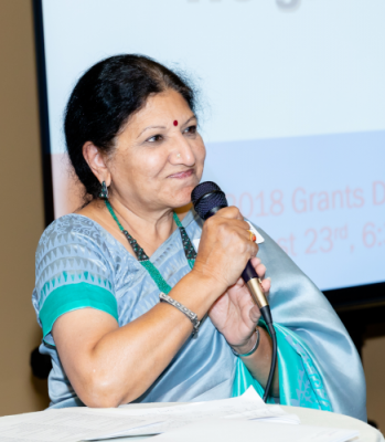 Board Director Rathna Kumar emceed the Grants Night event at the Bombay Brasserie on Thursday, August 23.