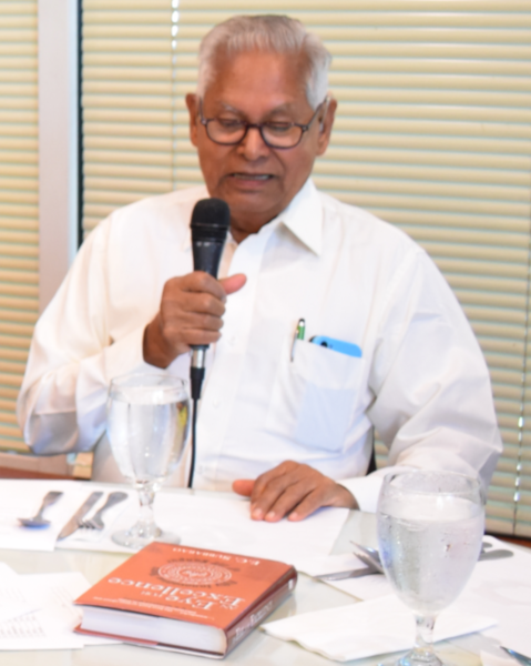 Professor E.C. Subbarao, the former Dean of IIT-Kanpur spoke about his experience at Madras Pavilion restaurant on Saturday, July 28.