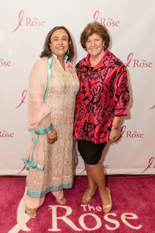 The Rose Board Directror Ashma Khanani-Moosa with CEO and co-founder Dorothy Weston Gibbons.