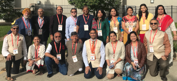 Standing: Col. Raj Bhalla (left), Ramesh Bhutada, Rajiv Bhavsar, Charlie Patel, Venkat Subramaniam, Kavita Tewary, Hemansi Gupta, Priti Sheth, Richa Dixit, and Nisha Mirani. Sitting: Vijay Pallod (left), Karuna Kankani, Ajit Patel, Dinesh Shah, Lakshmi Kurella, Kaushiki Tewary, Manisha Shukla, and Swapan Dhairyawan.