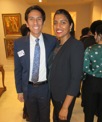 Texas House District 129 Candidate Alex Karjeker with his wife Bijal Mehta