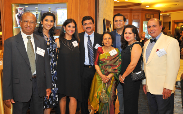 OS & BIO members Mani Subramanian (left), Anasuya Kabad, Preity Bhagia, Qusai Maheshri, Anuradha Subramanian, Vijay Bhagia, Nita Singhal and Sam Abraham.