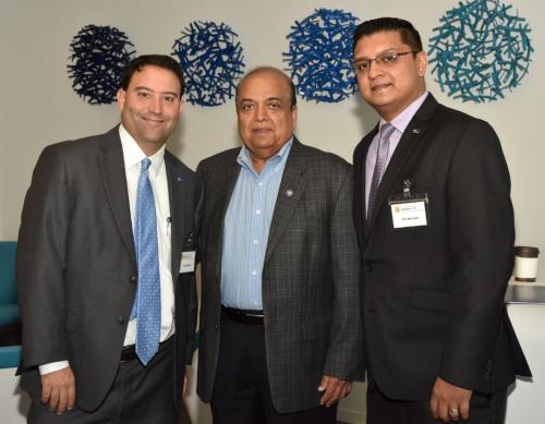 From left: Scott Zindler, SVP-Financial Advisor, BBVA Compass, Ashok Garg, Eric Merchant,Commercial Banking - Vice President, Relationship Manager , BBVA Compass