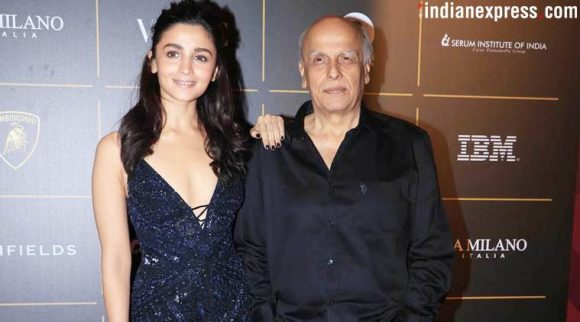 Alia Bhatt was at the Vogue Women of The Year awards with Mahesh Bhatt.