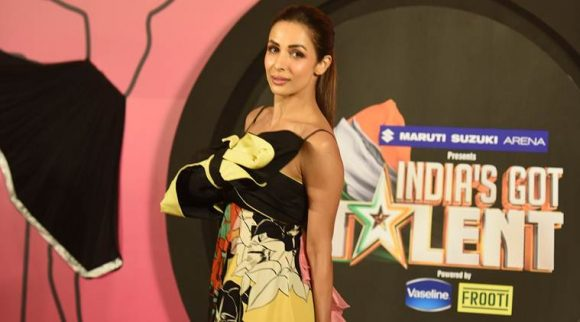 Malaika Arora Khan at the launch of India's Got Talent season 8.