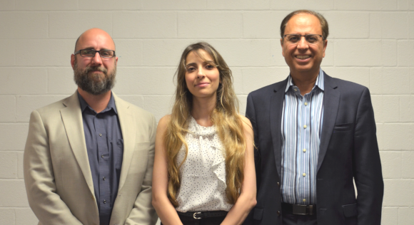 From left: Dr. Peter Torrione, Dr. Zahra Timsah, and Dr. Arun Pasrija.