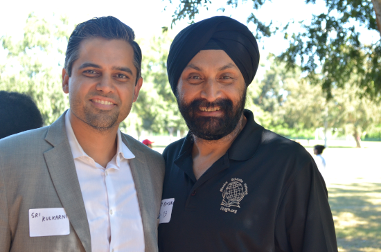 Witty Bindra (right) the former President of IITAGH- Houston with the Democratic candidate for the 22nd Congressional district Sri Preston Kulkarni