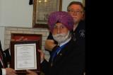 Morton Lodge Presents Fifty Year Service Award to Raj Bhalla